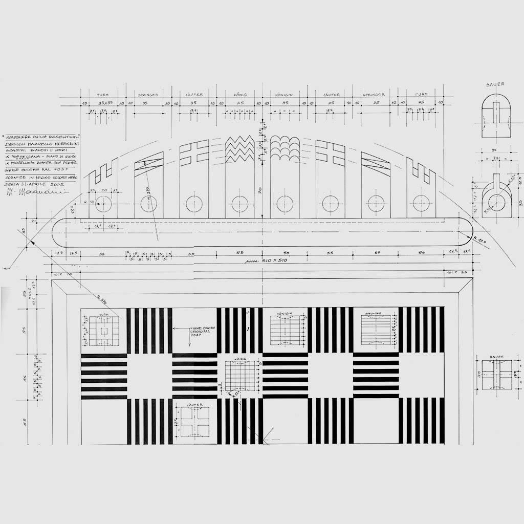scacchiera_PHILIP ROSENTHAL_disegno